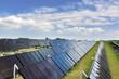 Leinwandbild Motiv Solarthermische Großanlage