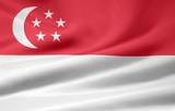 Fototapety Flagge von Singapur