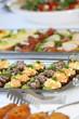 Bufett mit Häppchen oder Fingerfood