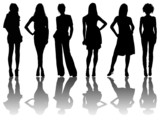6 silhouettes of women /1