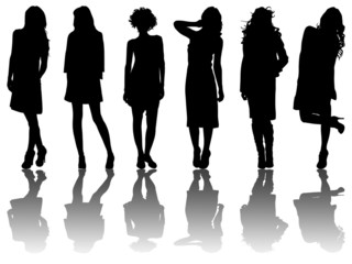 6 silhouettes of women /2