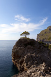 steep coast of Majorca (Spain),belearic island in europe.