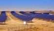 Solar panel field in Asturias, Spain