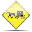 Señal carruaje amish