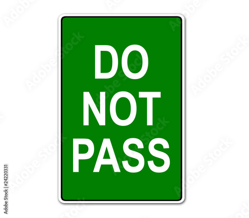 Pegatina DO NOT PASS