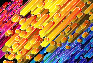 Barras diagonales en varios colores