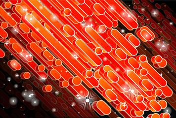 Barras diagonales en tonos rojo