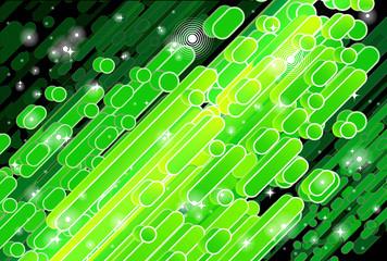 Barras diagonales en tonos verde