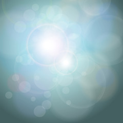 Abstract background blue bokeh
