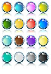 Ovalos cromado con fondo de diferentes colores