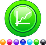 Positive trend circle button. poster