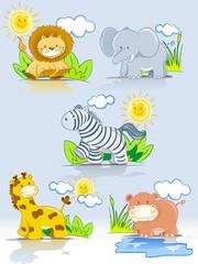 Mascotas de animales de la jungla