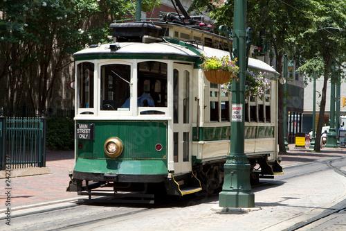 Leinwandbild Motiv Electric Trolley Car