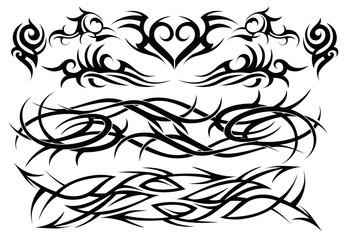 Grupo de elementos para tatuaje