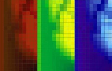 Fondo decorativo pixelado en varios coloresl
