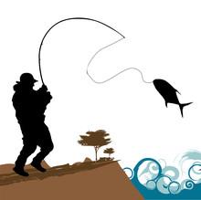 Rybak z dużych ryb