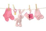 Fototapeta noworodek - różowy - Dekoracja