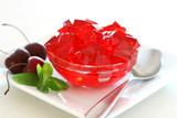Cherry Gelatin Dessert poster