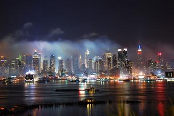 New York City Manhattan after fireworks show