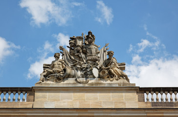 statue on historical biulding in Berlin