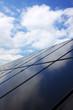 Panel einer Solarthermieanlage - Hochformat