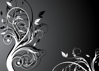 black floral background for design