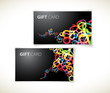modern dark gift card templates