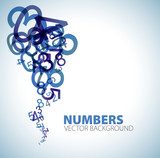 Fototapety background with blue numbers