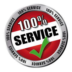 100% Service - Button