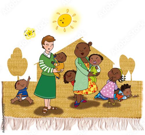 Scuola con bambini di colore