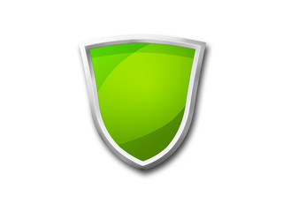3D green shield