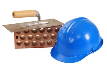 Construction objects. Isolated