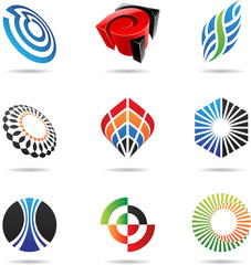 Various colorful abstract icons, Set 3