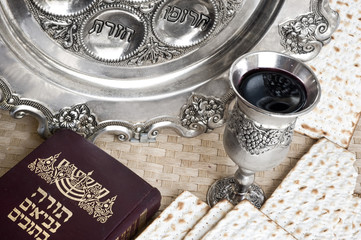 matzot,Torah and silver beaker