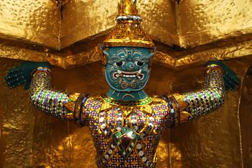 Ornaments at the temple Wat phra kaew,thailand