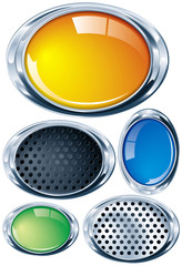 Ovalo cromado en varios colores y texturas