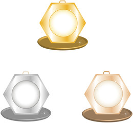 Medals. Vector object are scalable to any size