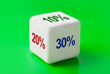 Dice with percentage