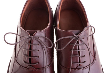 Men's brown shoes close-up