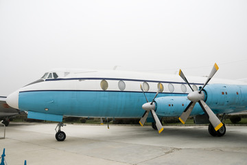 Vintage Turboprop Airplane