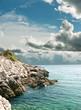 Rocky coast  Adriatic Sea in Croatia