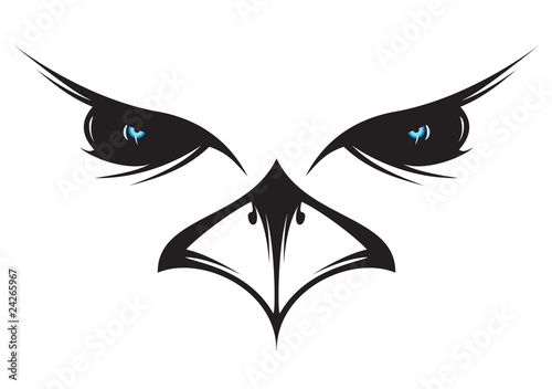 设计象徵载体野性的野生动物头鸟嘴鸟类黑色鼻子see