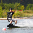 Wakeboarder Mann in Action