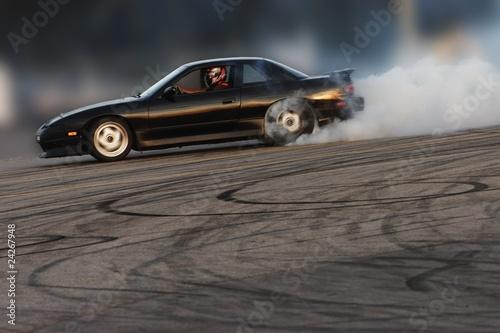 Foto op Canvas Snelle auto s Burning Rubber