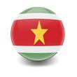 Esfera brillante con bandera Surinam