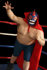 Mexican wrestler attacks