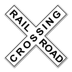Pegatina RAILROAD CROSSING