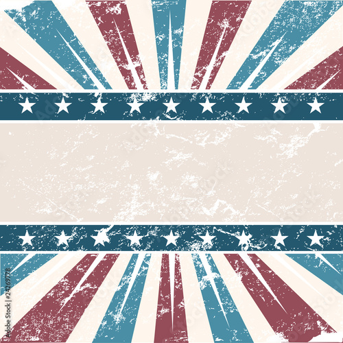 Old Colors American Background in grunge style