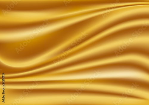 Gold silk fabric
