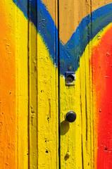 Serratura di una porta colorata